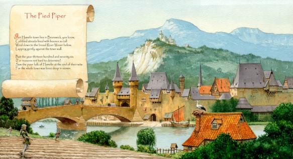 Alan Fraser Illustration The Pied Piper