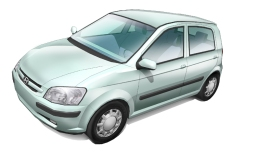 3D Models of the Hyundai Getz Car