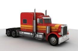 3D model of the Peterbilt 389 truck
