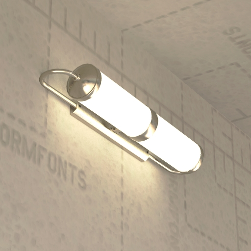 FormFonts 3D Model of Bauhaus Wall Light