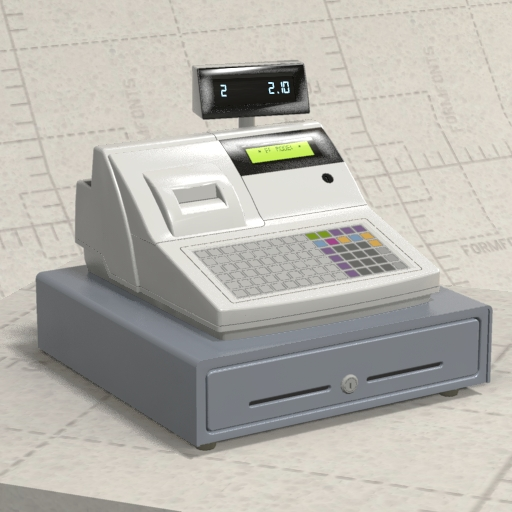FormFonts 3D model of Generic Cash Register