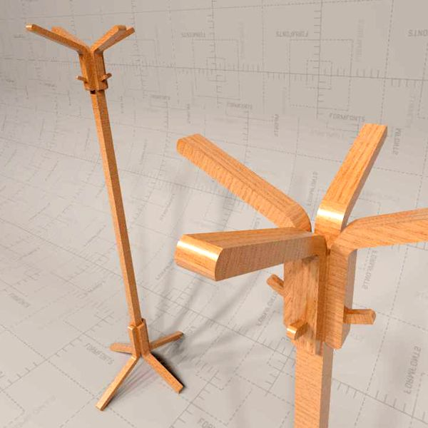 3D Model of Nea Coatstand by Habitat