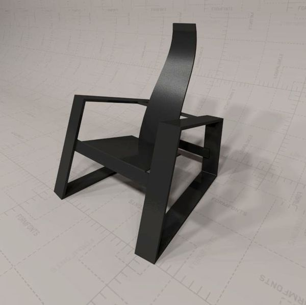 3D model of Skram Fade Chair