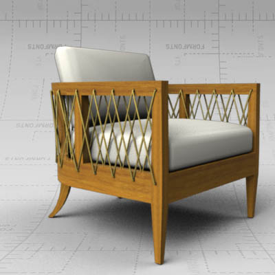 Gorgeous Marin Lounge Chair - 3D Model